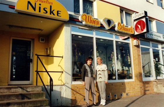 Juwelier Niske 1994 in der Gothaer Straße